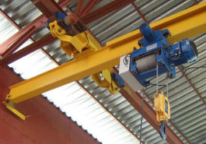 Обслуживание кран балок в Миассе. Контроль и настройка гири ограничения подъема. Монтаж гирлянды питания электроснабжения.