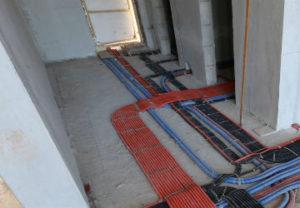 Прокладка силового кабеля по полу