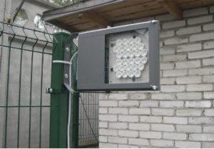 Установка светодиодного уличного прожектора