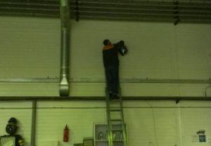 Замена в цехе прожекторов