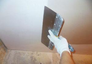Черновая шпаклевка потолка в Миассе