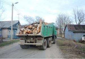 вывоз самосвалом мусора строительного